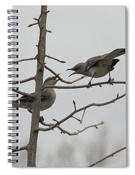 Mockingbirds Talk It Out Spiral Notebook