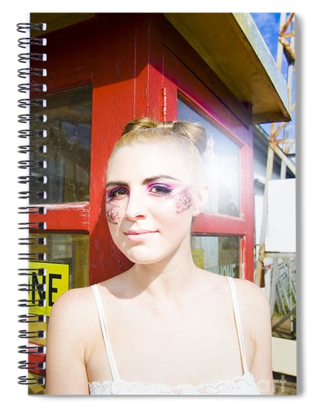 Model In Lace Makeup Spiral Notebook
