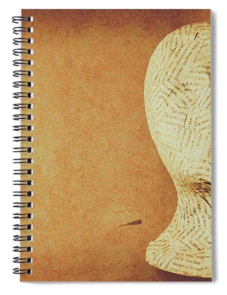 Modelling The Right Brain Intellect Spiral Notebook