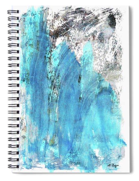 Modern Abstract Art - Blue Essence - Sharon Cummings Spiral Notebook