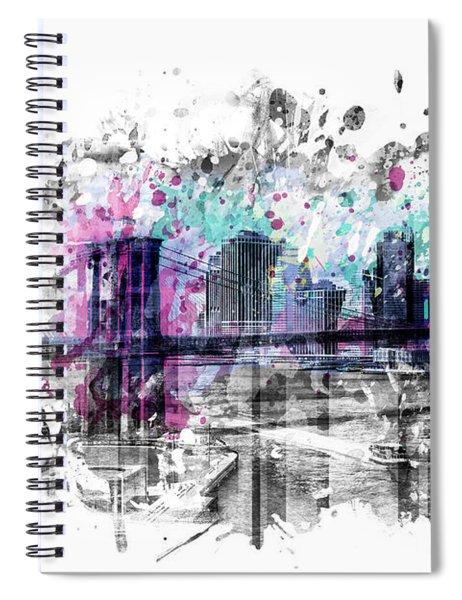 Modern Art New York City Skyline - Splashes  Spiral Notebook