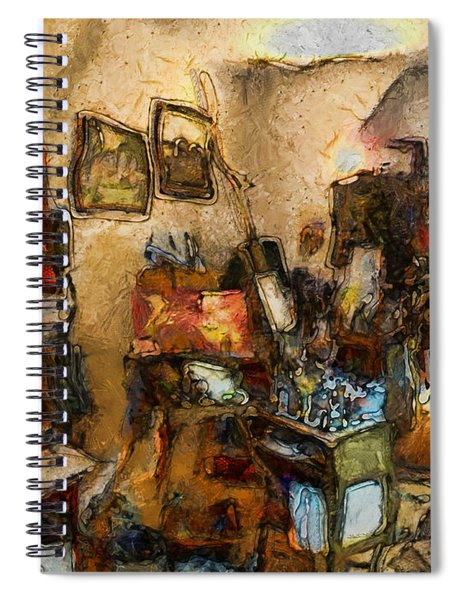 Modern Art Studio Spiral Notebook