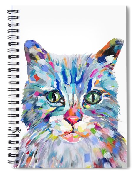 Modern Cat Spiral Notebook