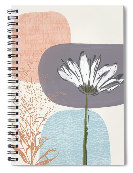 Modern Fall Floral 2- Art By Linda Woods Spiral Notebook