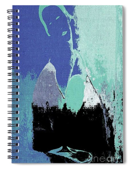 Abstract Portrait - 87t1dc7b Spiral Notebook