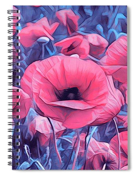 Modern Poppies Spiral Notebook