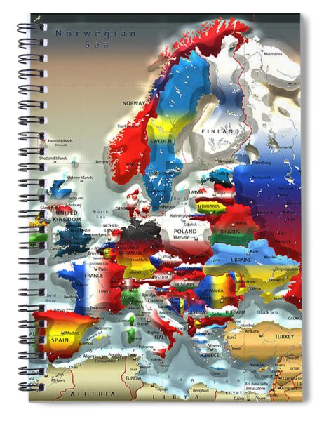 Modern Portrait Of Modern Europe - 3d Spiral Notebook