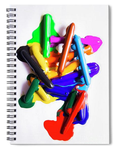 Modern Rainbow Art Spiral Notebook