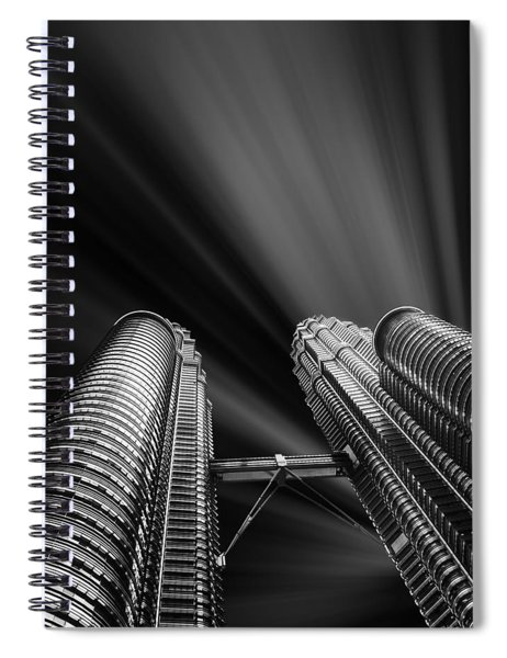 Modern Skyscraper Black And White Picture Spiral Notebook