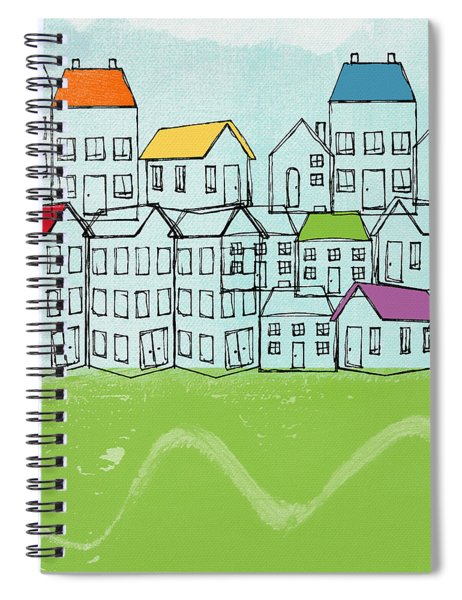 Modern Village Spiral Notebook