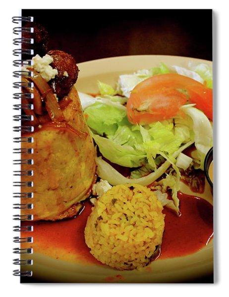 Mofongo Stuffed With Chorizos Spiral Notebook