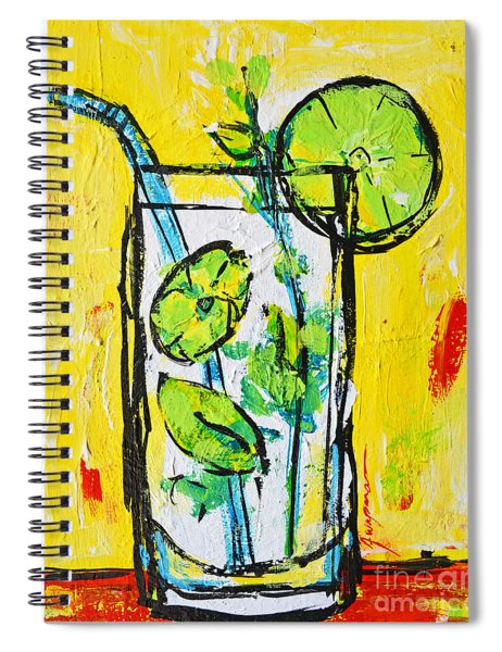 Mojito - Latin Tropical Drink Modern Art Spiral Notebook