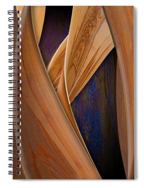 Molten Wood Spiral Notebook