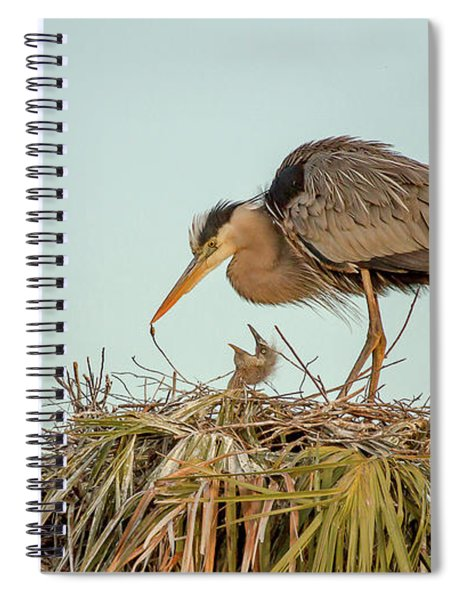 Mom And Chick Spiral Notebook