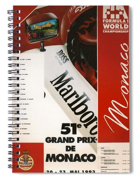 Monaco F1 1993 Spiral Notebook