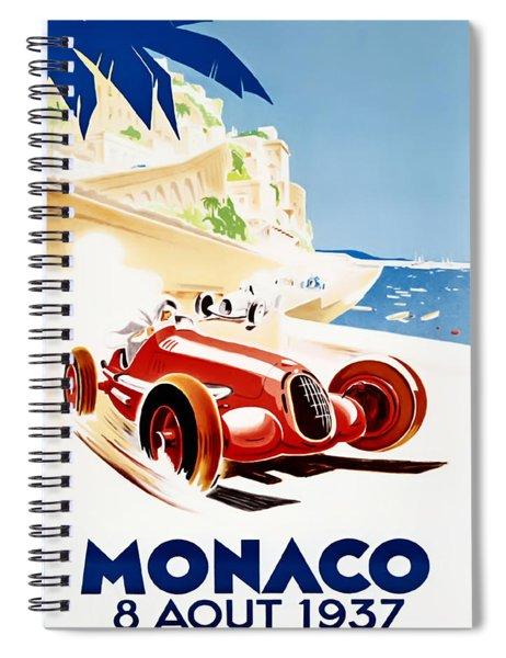 Monaco Grand Prix 1937 Spiral Notebook