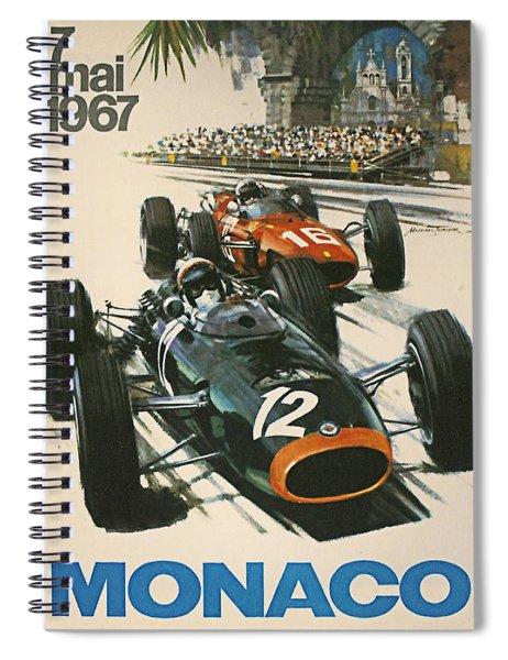 Monaco Grand Prix 1967 Spiral Notebook