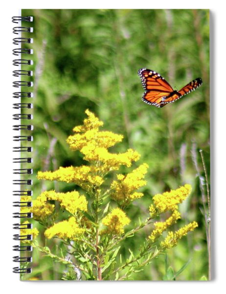 Monarch And Goldenrod Spiral Notebook
