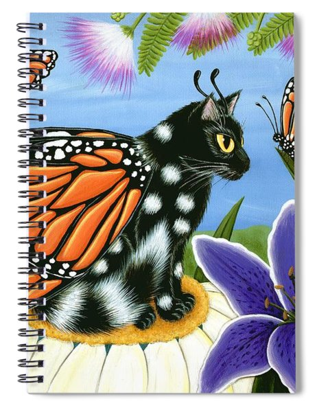 Monarch Butterfly Fairy Cat Spiral Notebook