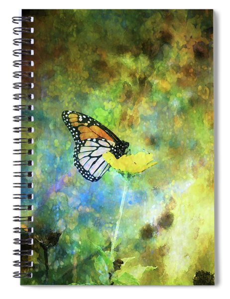 Monarch In Azure And Gold 5647 Idp_2 Spiral Notebook
