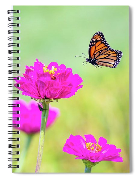 Monarch In Flight 1 Spiral Notebook