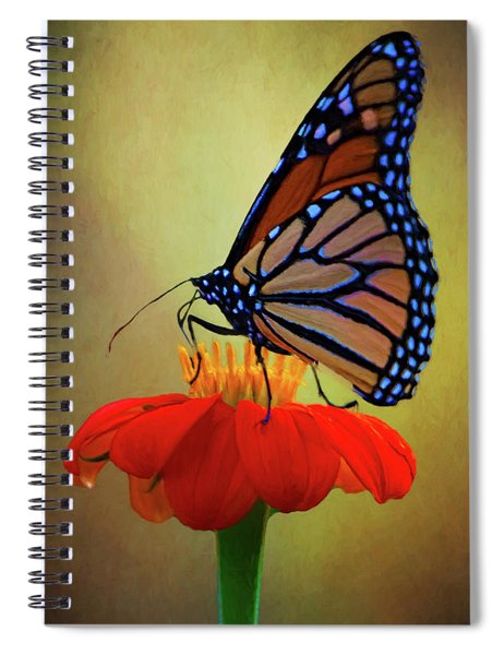 Monarch On A Mexican Sunflower Spiral Notebook