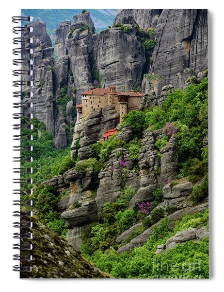 Monastery Of Saint Nicholas Of Anapafsas, Meteora, Greece Spiral Notebook