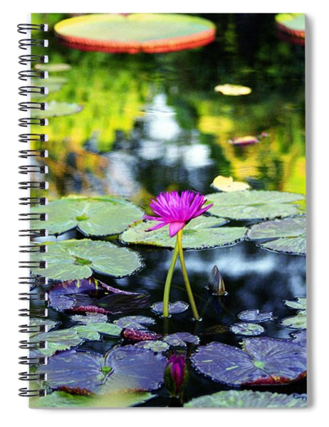 Monet Lilies Spiral Notebook