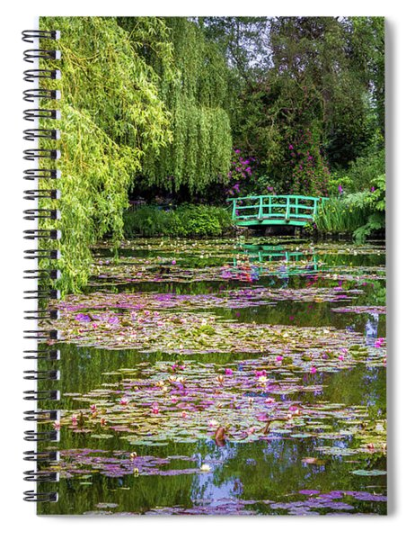 Monet's Waterlily Pond, Giverny, France Spiral Notebook