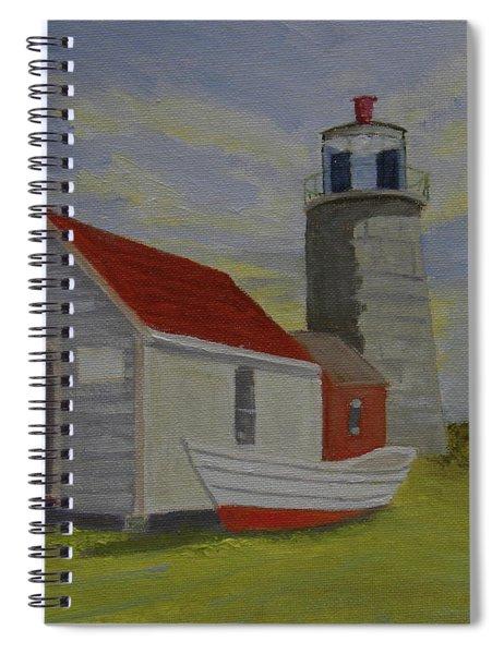 Monhegan Lighthouse Study Spiral Notebook