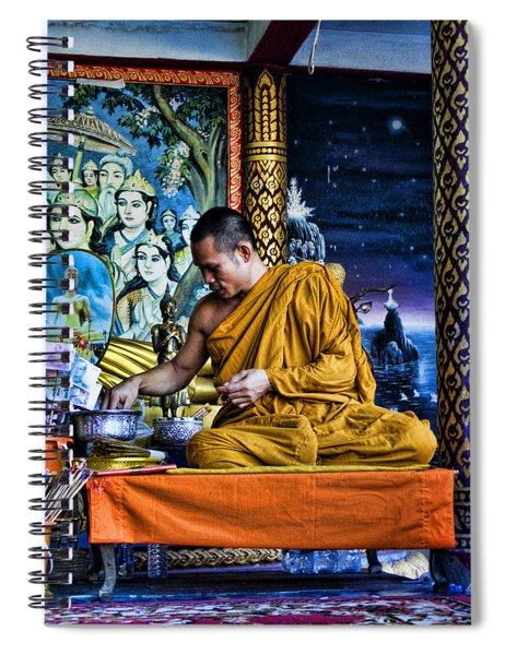 Monk At Big Buddha  Spiral Notebook