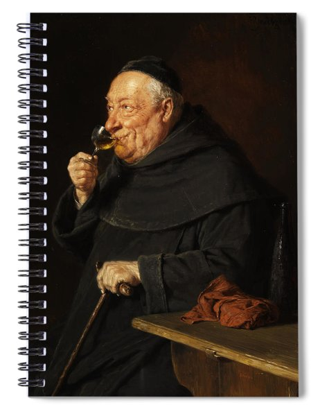 Monk With A Wine Spiral Notebook