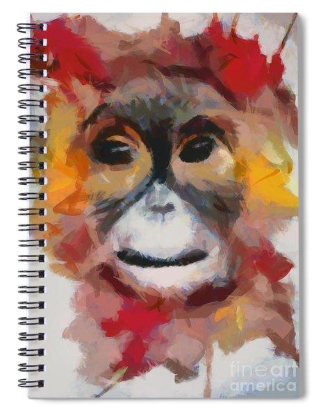 Monkey Splat Spiral Notebook