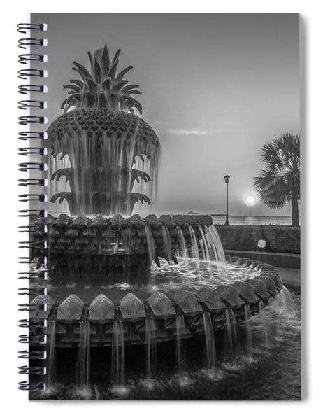 Monochrome Pineapple Spiral Notebook