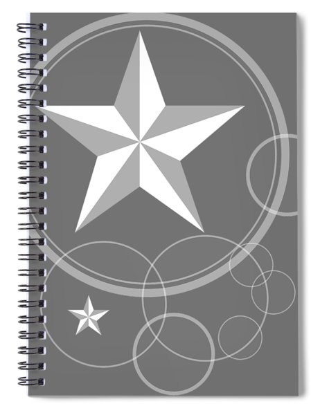 Monochrome Stars With Circles Spiral Notebook