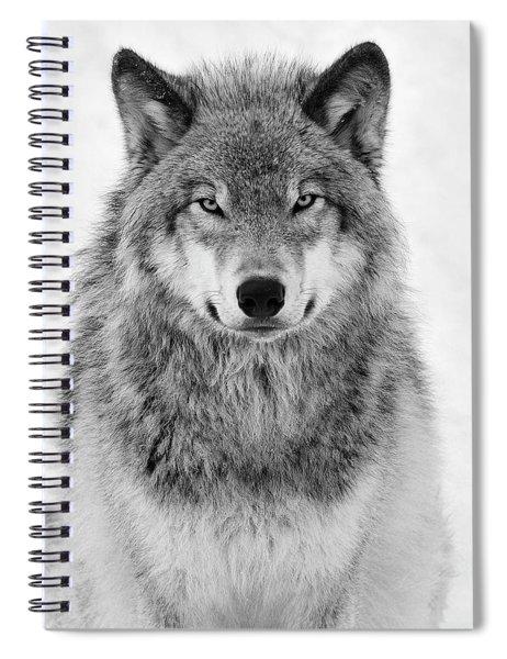 Monotone Timber Wolf  Spiral Notebook