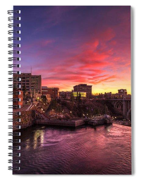 Monroe Bridge Sunset View Spiral Notebook