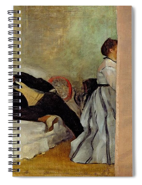 Monsieur And Madame Edouard Manet Spiral Notebook by Edgar Degas