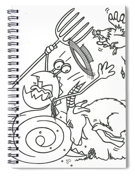 Monster Getting Chased Spiral Notebook