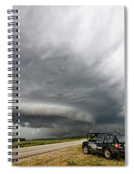 Monster Storm Near Yorkton Sk Spiral Notebook