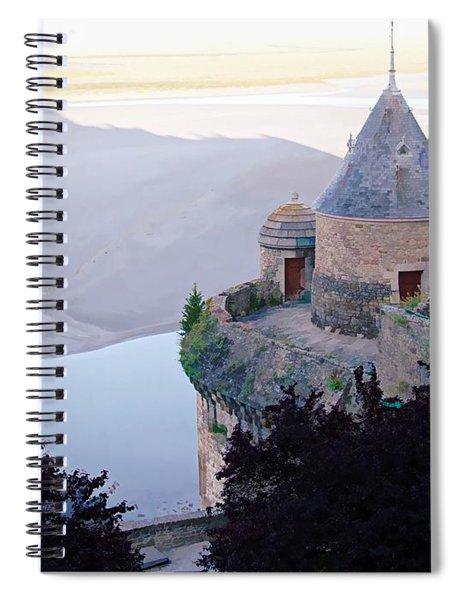 Mont Saint Michel In The Shadows Spiral Notebook