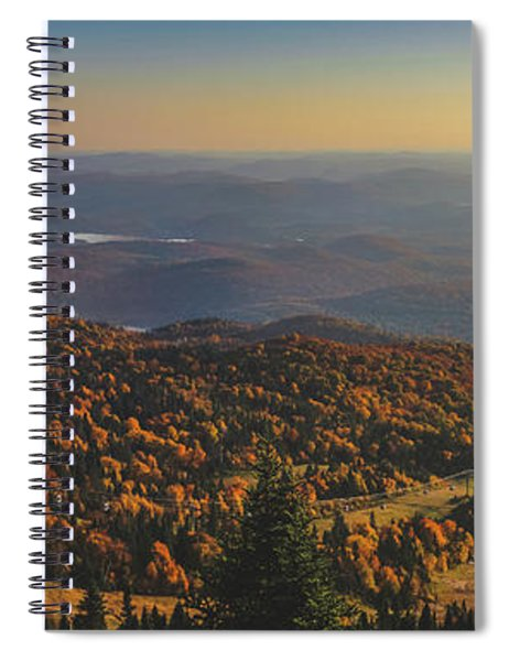 Mont Tremblant Summit Panorama Spiral Notebook