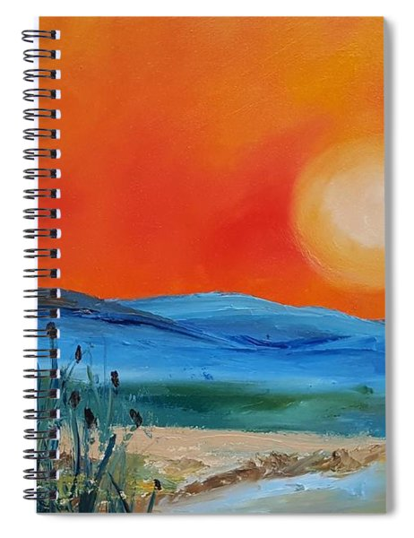 Montana Firery Sunset             49 Spiral Notebook