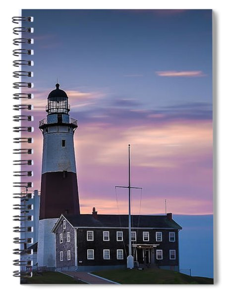 Montauk Lighthousepastel  Sunrise Spiral Notebook