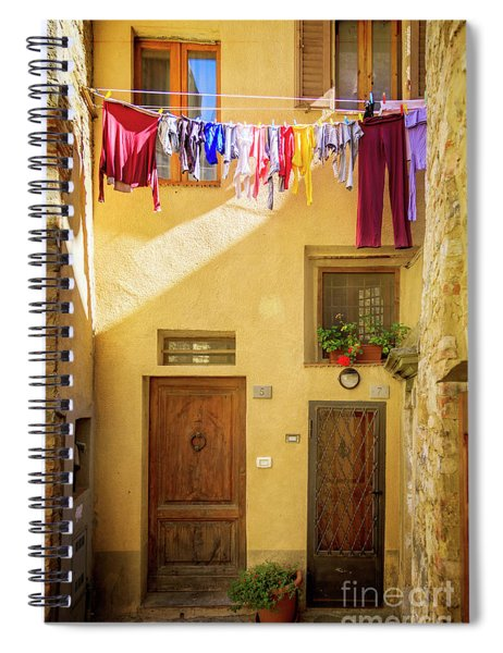 Montefalco Hanging Laundry Spiral Notebook