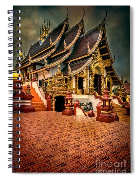Monthian Temple Chiang Mai  Spiral Notebook