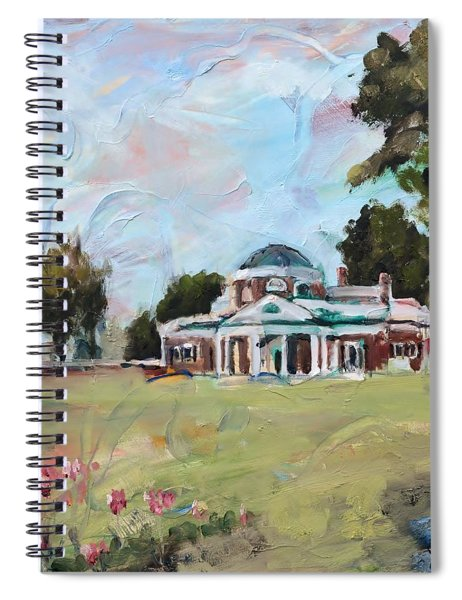 Monticello Charlottesville Virginia Spiral Notebook