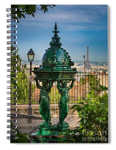 Montmartre Wallace Fountain Spiral Notebook