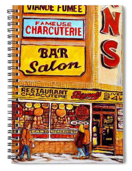 Montreal Paintings Spiral Notebook