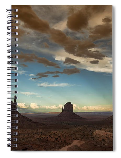 Monument Valley Style Sunset  Spiral Notebook